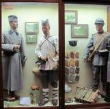 武力和军史的皇家博物馆的塞尔维亚战士 库存照片