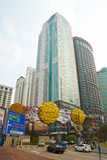 武吉免登区在吉隆坡,马来西亚 免版税库存图片
