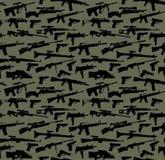 武器无缝的背景 免版税图库摄影