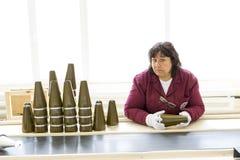 武器武装武库生产弹头 库存图片