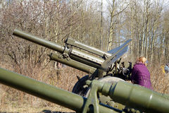 武器火炮的陈列 图库摄影