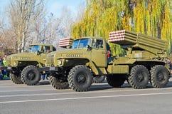 武器BM-21毕业 库存图片