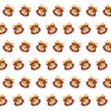 武士头骨-贴纸样式40 库存例证