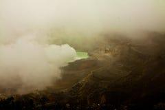 武尔卡诺岛火山口湖Poas -哥斯达黎加 库存照片