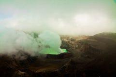 武尔卡诺岛火山口湖Poas -哥斯达黎加 免版税库存图片