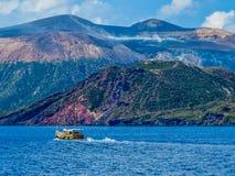 武尔卡诺岛,意大利 库存图片