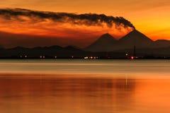 武尔卡诺岛 免版税库存图片