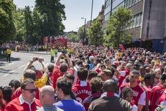 武库英格兰足总杯胜利游行2014年 免版税库存图片