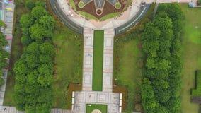 武汉,中国- 2017年5月:天时间著名武汉城市广场公园天线全景 影视素材