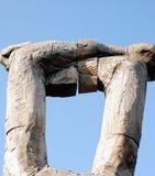 武装天空木头 库存照片