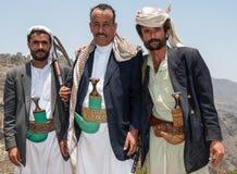 武装的人在也门 库存照片