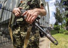 武装的危机在乌克兰 免版税库存照片