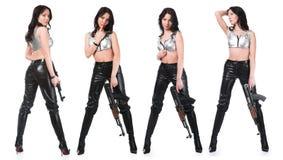 武装的女孩 库存图片