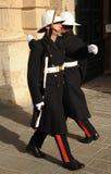 武装的宫殿护卫,马耳他 库存照片