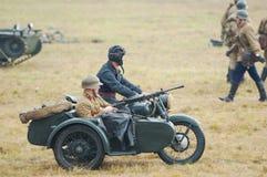 武装的摩托车 图库摄影