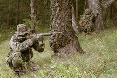 武装的海军陆战队员s u 库存图片