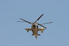 武装的直升机 库存照片