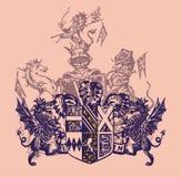 武装的纹章 免版税库存照片