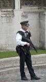 武装的英国卫兵 免版税图库摄影