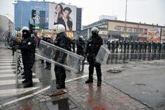 武装的警察 免版税库存照片
