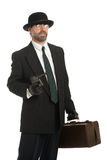 武装的银行抢劫犯 库存图片