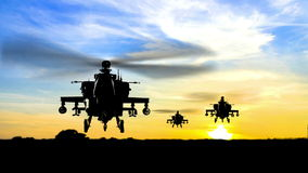 武装直升机直升机 向量例证