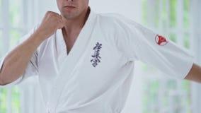 武道主要在健身房的战斗训练 股票视频
