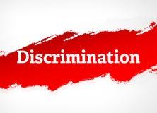 歧视红色刷子摘要背景例证 向量例证