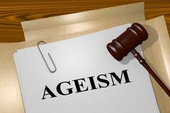 歧视老年人-法律概念 向量例证