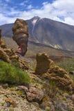 歹徒de加西亚和泰德峰火山的看法 库存照片