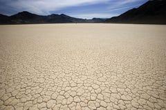 死亡水平的playa跑道谷 免版税库存图片