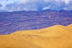 死亡沙丘平面的豆科灌木国家公园谷 图库摄影
