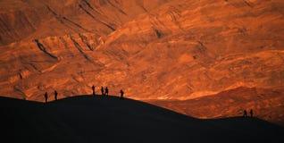 死亡沙丘铺沙日落谷 免版税库存图片
