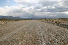 死亡沙漠路谷 免版税图库摄影