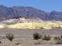 死亡谷国家公园横向,加利福尼亚 免版税图库摄影