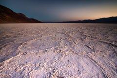 死亡谷国家公园-恶水盆地 图库摄影