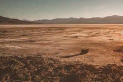 死亡谷惊人的沙漠视图  库存照片