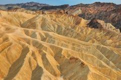 死亡谷Zabriskie点横向 免版税库存照片