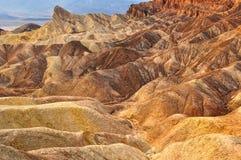 死亡谷Zabriskie点沙漠 库存图片