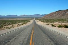 死亡路平直的谷 库存图片