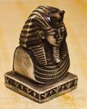 死人面模端tutankhamun视图 免版税库存图片