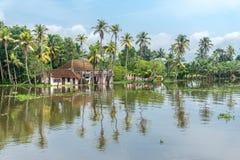死水在南印度 免版税库存图片
