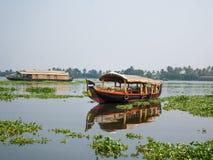 死水在Alleppey,印度 免版税库存照片