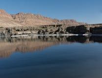 死海和犹太沙漠山 库存图片