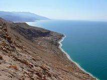 死海在乔丹。 免版税库存图片
