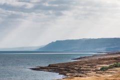 死海最进一步的正确的视图焦点 库存图片