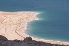 死海海岸线 库存照片