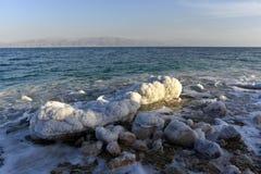 死海海岸 免版税库存照片