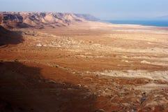 死海的横向视图 免版税图库摄影