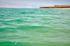 死海表面。 免版税库存图片